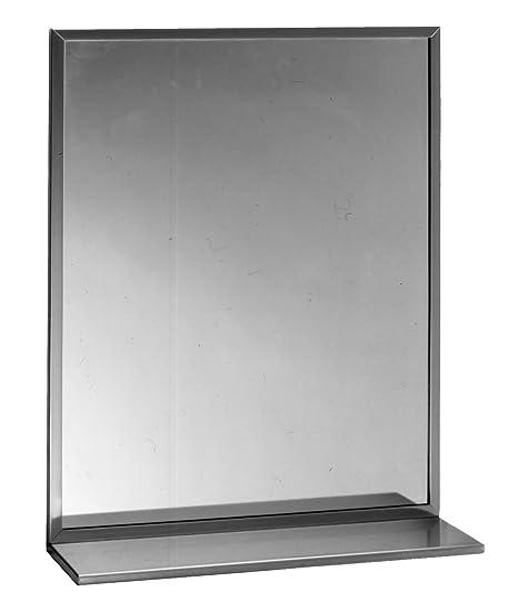 Amazon.com: Bobrick b-166 1836 espejo estante w/marco de ...