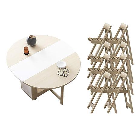 Mesas Plegables y sillas-Mesa de Comedor pequeño hogar 6/8 ...