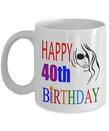 Lplpol Happy 40th Birthday Mugs For Women 11 Oz 40 Year Old Gifts Ideas Wife 1978 Mom From Son Daughter