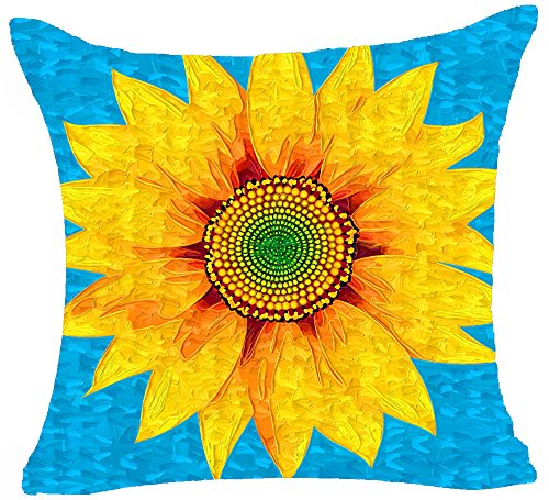 Decorative Cushion Background Sunflower Flowers
