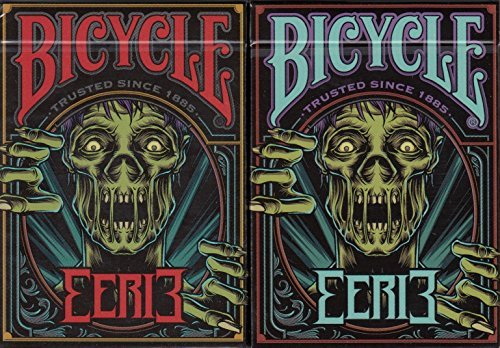 Eerie 2 Deck Set Bicycle Playing Cards Poker Size USPCC Custom Limited Edition by Bicycle