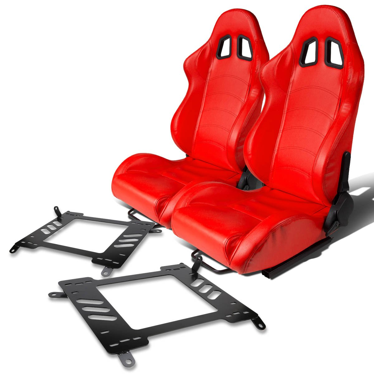 Pair of RST1PVCRD Racing Seats+Mounting Bracket for 00-05 Celica