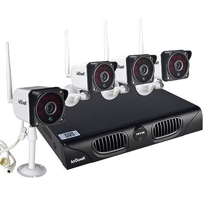 ieGeek Funk Vigilancia Wireless 4 CH 720P HD cámara de vigilancia cámara IP CCTV NVR Grabador