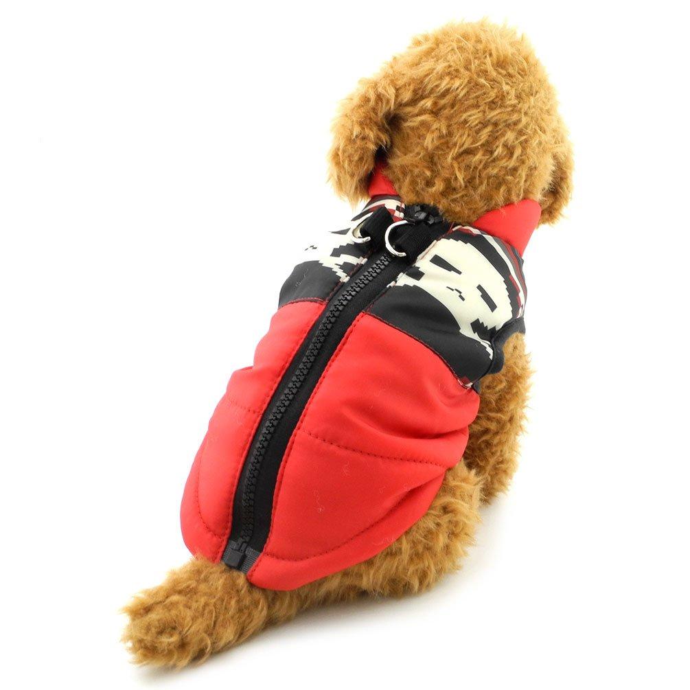 smalllee /_ Lucky /_ store arn/és peque/ño perro gato chaleco ni/ño Ni/ña mascota Invierno Ropa Acolchado