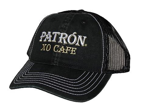 Amazon.com  Patron Tequila Trucker Baseball Hat Black  Clothing 923336d12fa