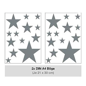 Sternen Set Kinderzimmer Wandsticker 26 Stuck Sterne Sternenhimmel