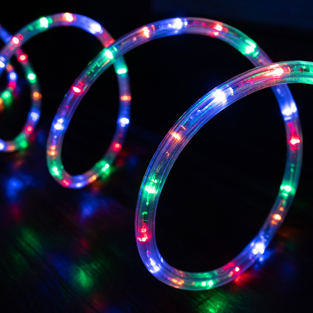 west ivory 3/8 mixed colors led rope lights 2 wire accent holiday christmas  party decoration