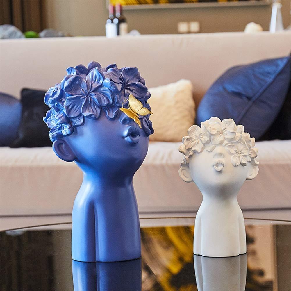 bluee and white MAGO Spring Blossoms Art Sculpture, Living Room Bedroom Entrance Hotel Cafe Elegant Decoration (color   bluee)