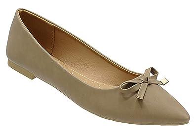 600751b506 Color: Womens Casual Comfortable Chic Canvas Flat Ankle Strap Shoe Ballet  Flat Khaki PU Almond Toe Flat