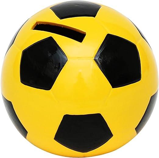Alcancia en forma de balón de fútbol tamaño 10 x 10cm: Amazon.es ...