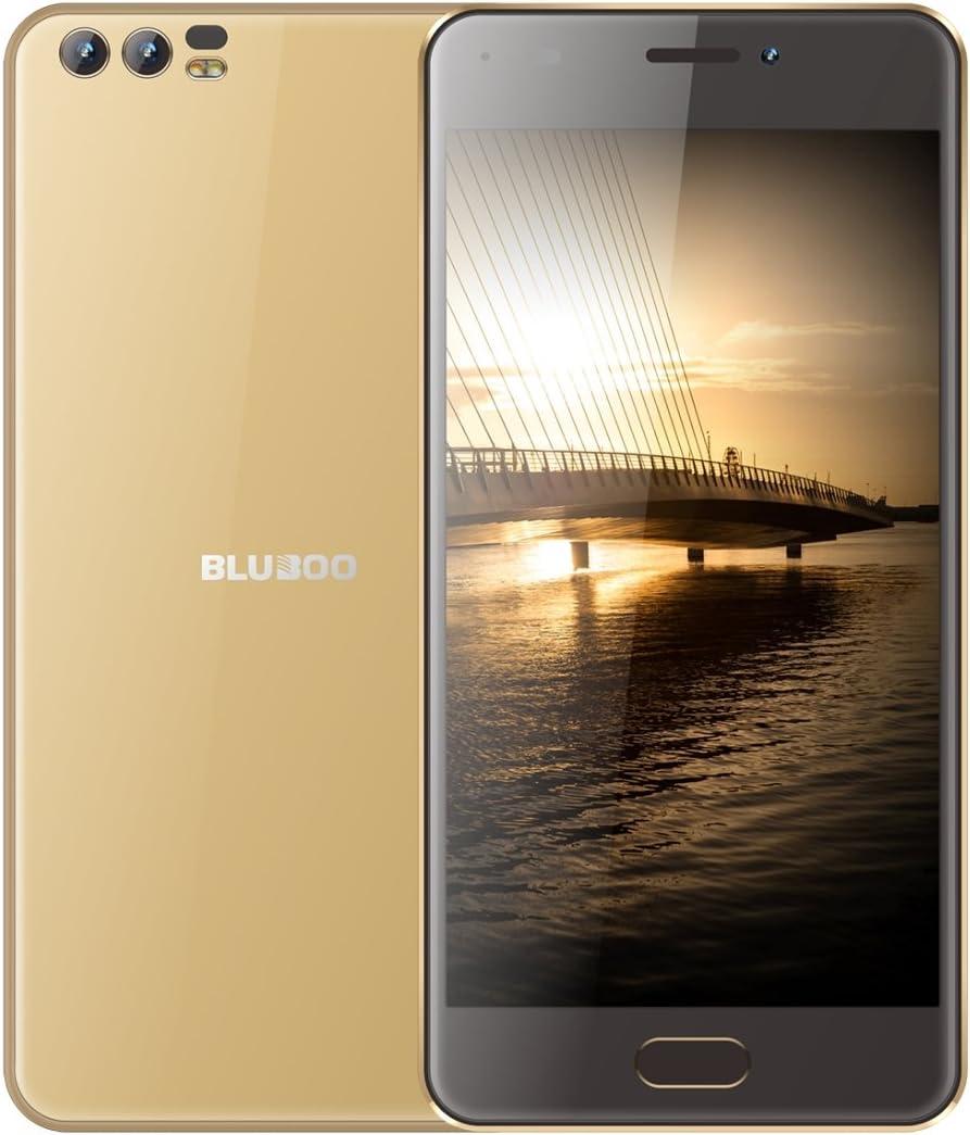 BLUBOO D2 Desbloqueado Smartphone 1 GB + 8GB Doble cámaras Trasera 5.2 Inch Android 6.0 mtk6580 a Quad Core hasta 1,3 GHz con Red 3 G, WiFi, GPS, Bluetooth, Dual SIM (Gold): Amazon.es: Electrónica