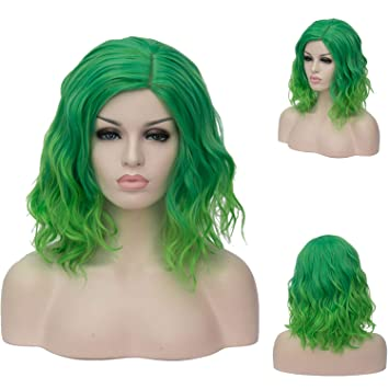 Wig Party Girl Medium Length Wavy Synthetic Hair Costume Wig With Bangs
