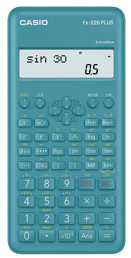 Casio FX-220 Plus - Calculadora (Bolsillo, Calculadora científica, 2 líneas,