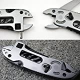 Blue Screen LLC Multi Functional EDC Tool Adjustable Wrench Jaw + Screwdriver + Pliers + Knife Tool Set Survival Gear Tool BHU2