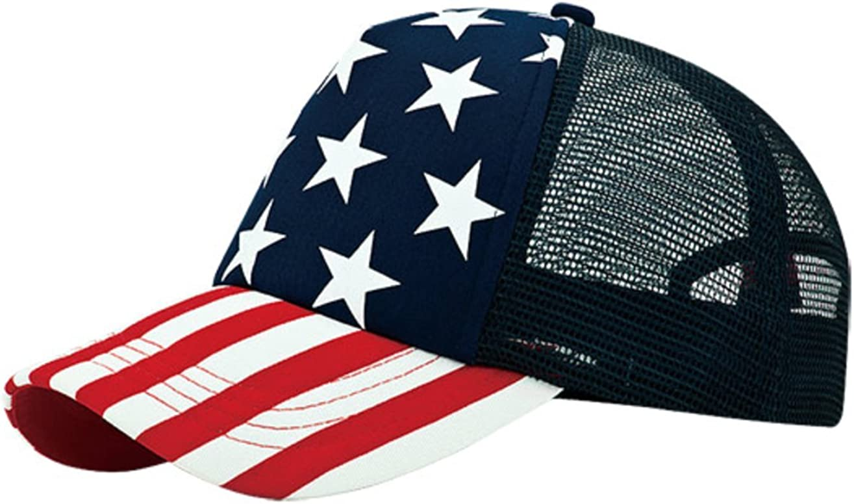 WORKANDPLAY WP 5 Panel Foam Trucker USA Flag Stars and Stripes Cap