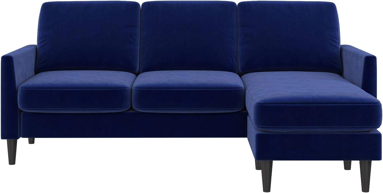 Mr. Kate Winston Sofa Sectional Blue Velvet