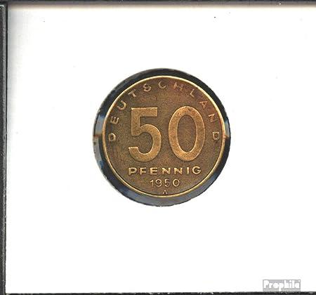 Ddr Jägernr 1504 1950 A Sehr Schön Aluminium Bronze 1950 50 Pfennig