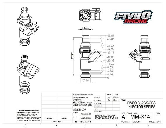 Amazon com: Fiveomotorsport Custom BLACK OPS 1000cc Fuel Injector