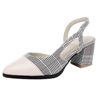 COOLCEPT Damen Sandaletten Sommer Sandalen mit Absatz