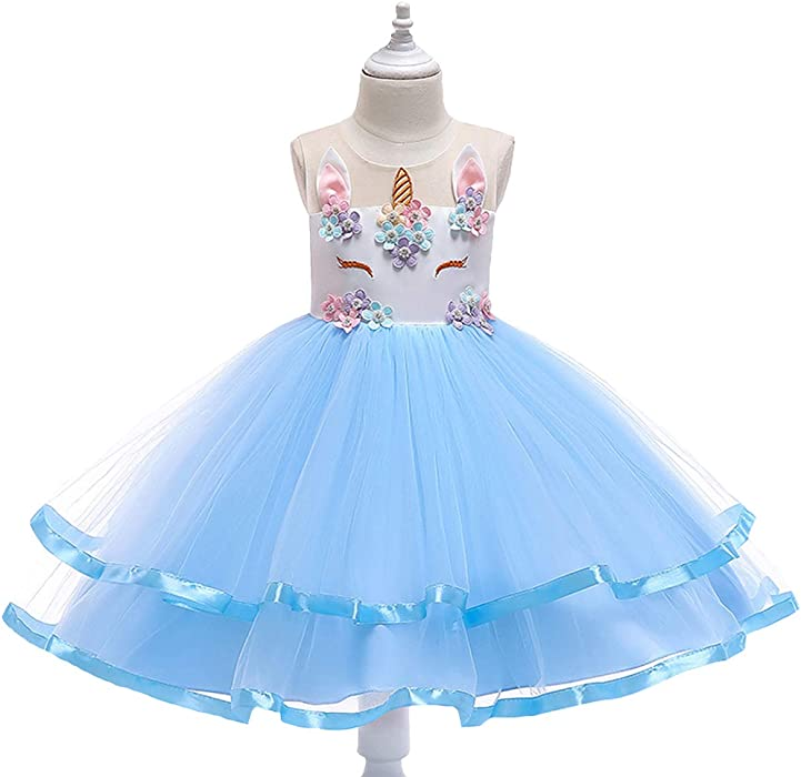 Flower Girl Princess Dress Kid Baby Party Pageant Birthday Cute Cat Tutu Dresses