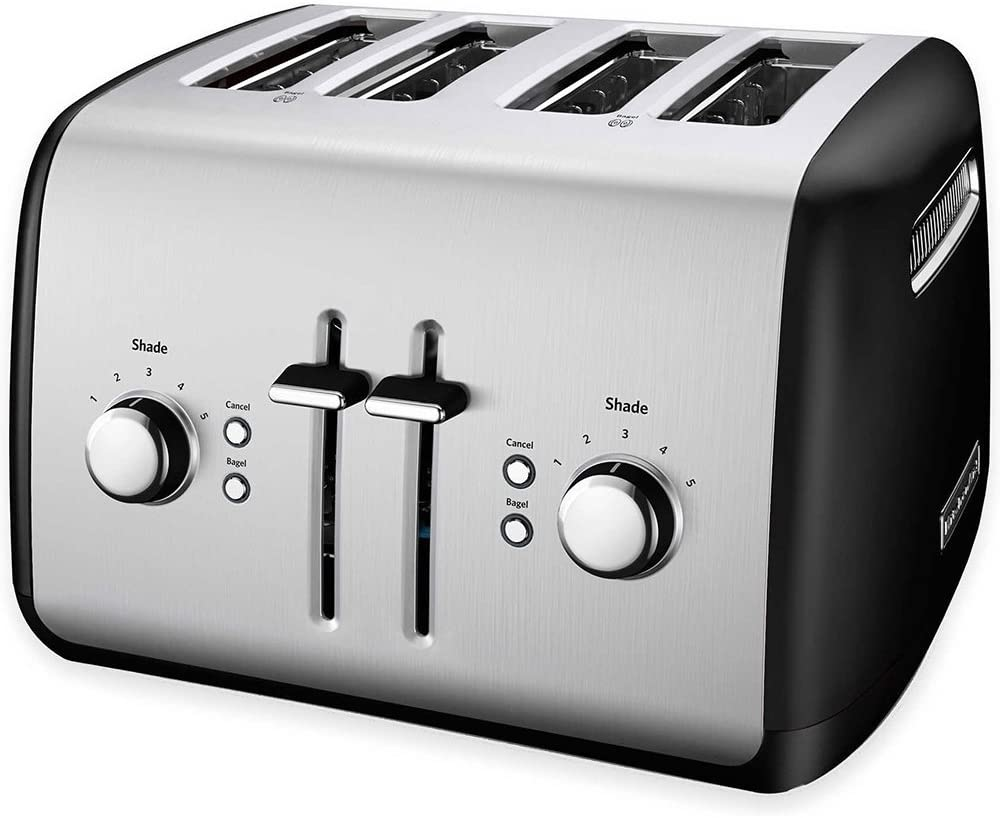 KitchenAid KMT4115OB Toaster with Manual High-Lift Lever, Onyx Black (Renewed)