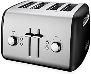 KitchenAid KMT4115OB Toaster with Manual High-Lift Lever, Onyx Black (Renewed)