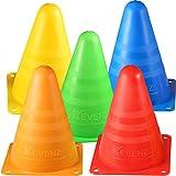 12/24-Pack Kevenz 7 Inch Thicker Multi-Purpose Multi-Color Plastic Traffic Cones