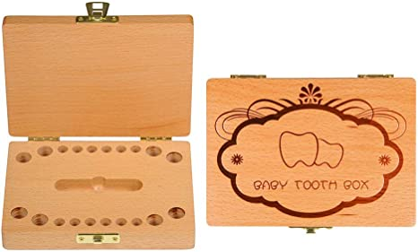 Caja de almacenamiento de dientes de leche BOJU para niños, de ...