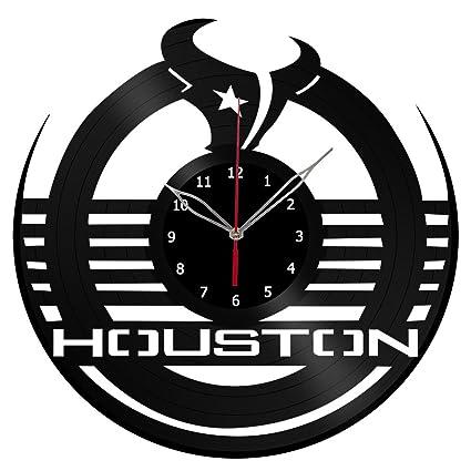 Amazon Com Nfl Houston Texans Vinyl Record Wall Clock Fan Art