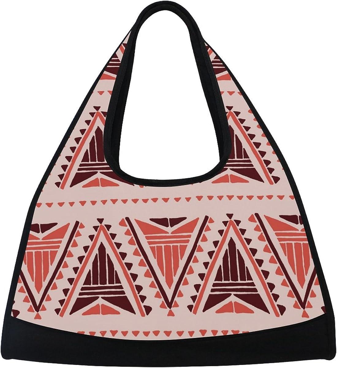 AHOMY Canvas Sports Gym Bag Retro Indian Tribes Travel Shoulder Bag