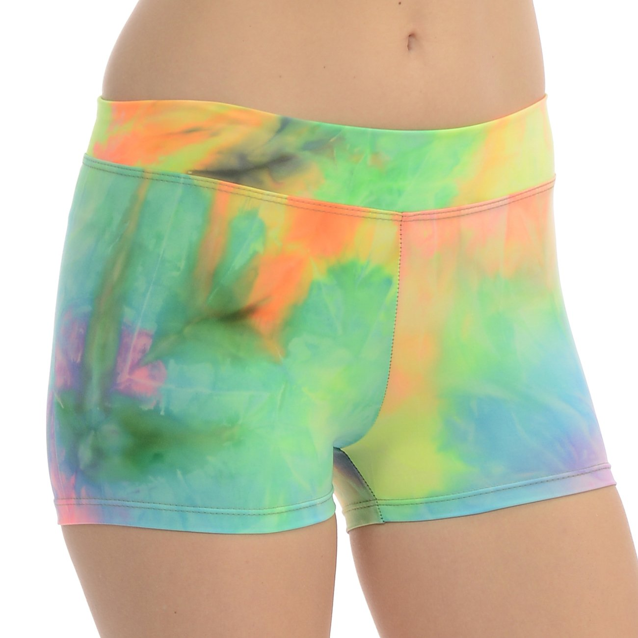 ANZA Girls Active Wear Dance Booty Shorts-Tie-Dye,X-Small(2/4) by Anza Collection