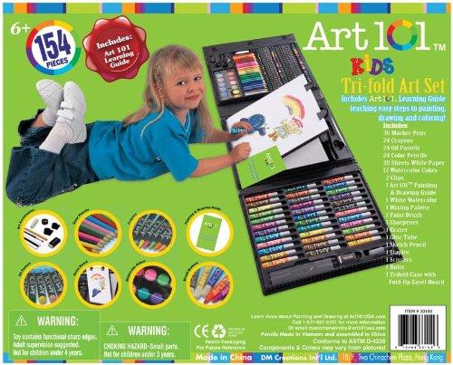 Aeropost Com Costa Rica Art 101 Kids 154piece Trifold Easel Art Set