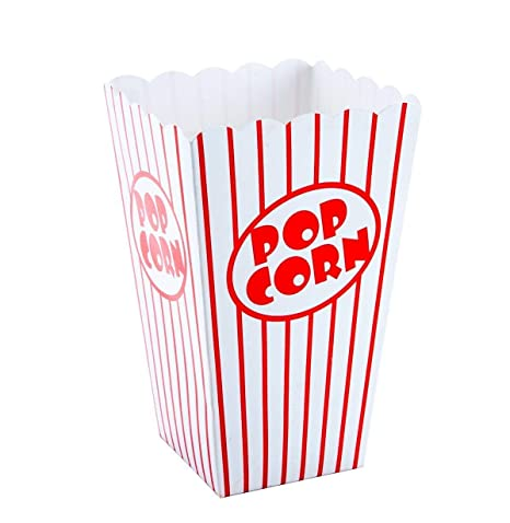 Tebery 48 Pcs Cine pequeñas cajas de palomitas de maíz – Papel cajas de palomitas de