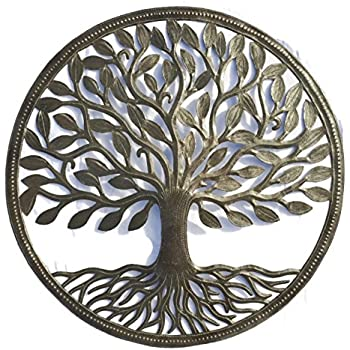 Amazon Com Tree Of Life Sign Metal Wall Art Home Amp Kitchen