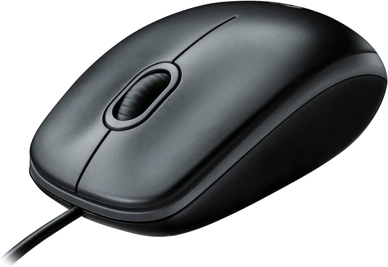 Logitech B100 Corded Mouse – Wired USB Mouse for Computers and laptops, for Right or Left Hand Use, Black: Electronics