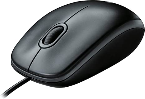 Logitech M100 Corded Mouse Wired USB Mouse for Computers and Laptops Black for Right or Left Hand Use