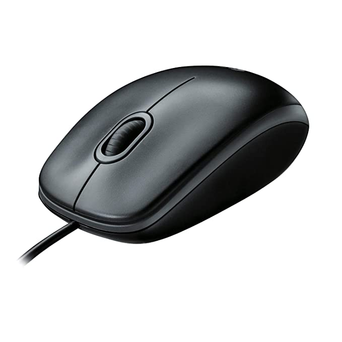 Logitech M100r Wired USB Mouse  Black  Mice
