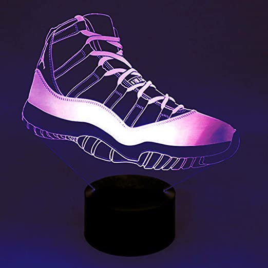 3D Movements Sport Shoes Night Light Table Desk Optical