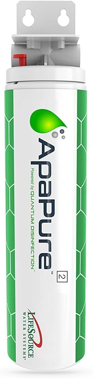 LifeSource Water Systems ApaPure 2 - Home Carbon Water Filter for Sinks - Removes Viruses, Chlorine, Fluoride (No Chemicals, Power, Maintenance)