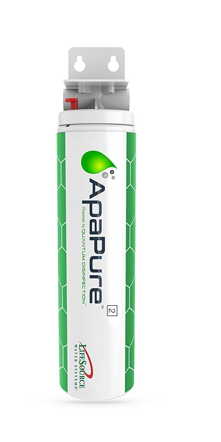 LifeSource Water ApaPure 2 (New Patented Technology) Advanced In-Home Water Filter – Removes Bacteria & Viruses Using Quantum Disinfection (No Chemicals or Power) Replaces Conventional UV Filter