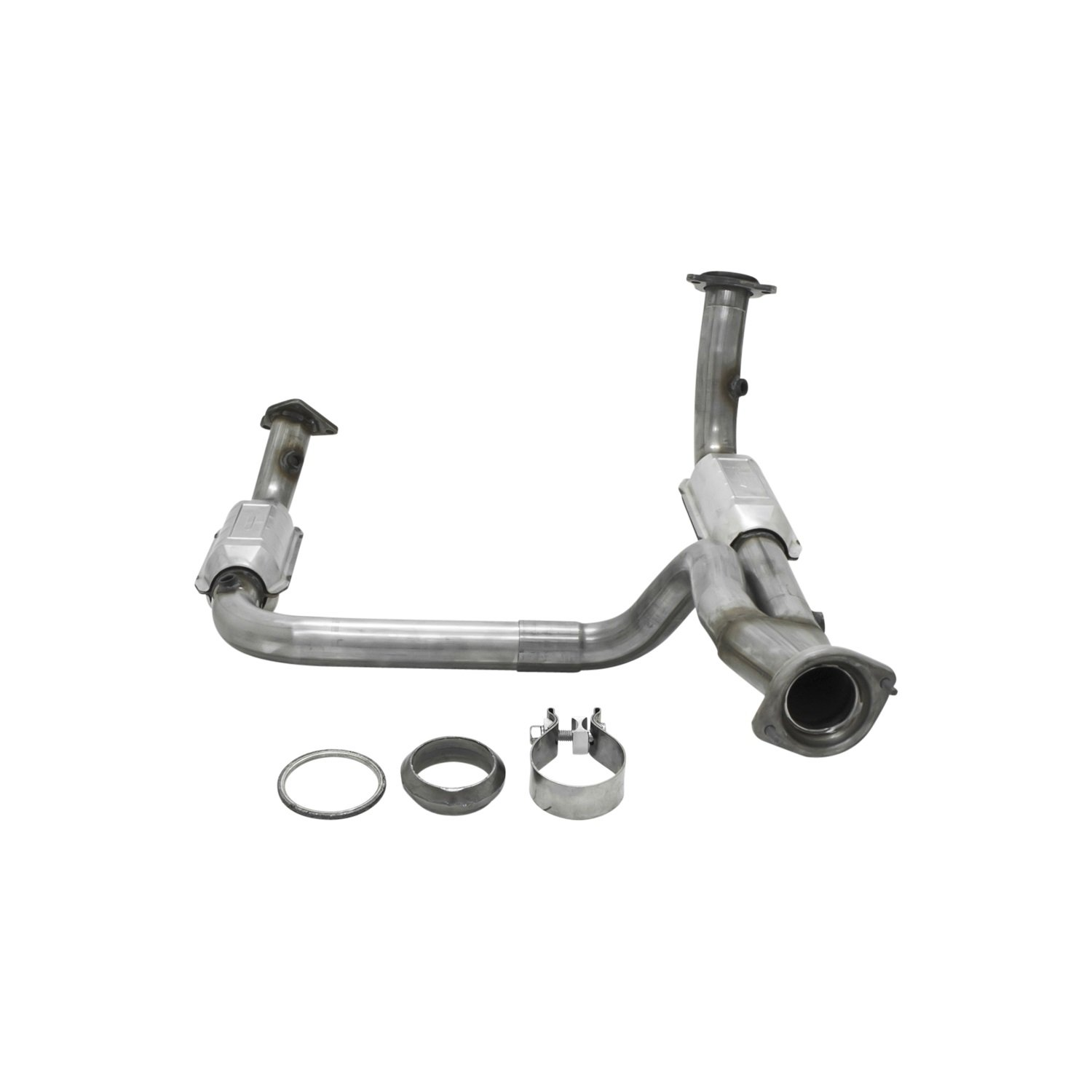 Flowmaster 2010019 25 Inlet 3 Outlet Direct Fit Chevy 350 Knock Sensor Location Catalytic Converter Non Carb Compliant Automotive