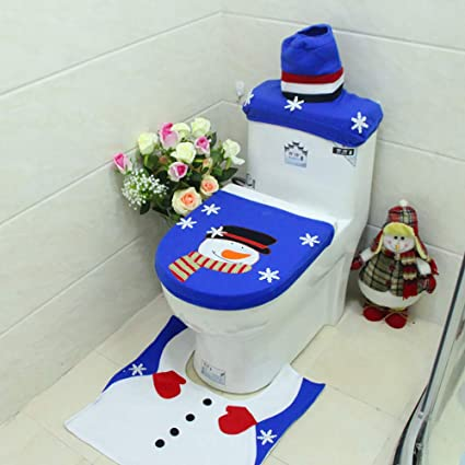 Toilet Seat Covers Amazon.Amazon Com Yqich Christmas Snowman Themed Toilet Seat Cover