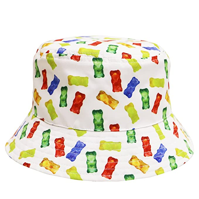 Amazon.com  City Hunter Bd1950 Food Bucket Hat - White Gummy Bear ... 5cbc58a15e1
