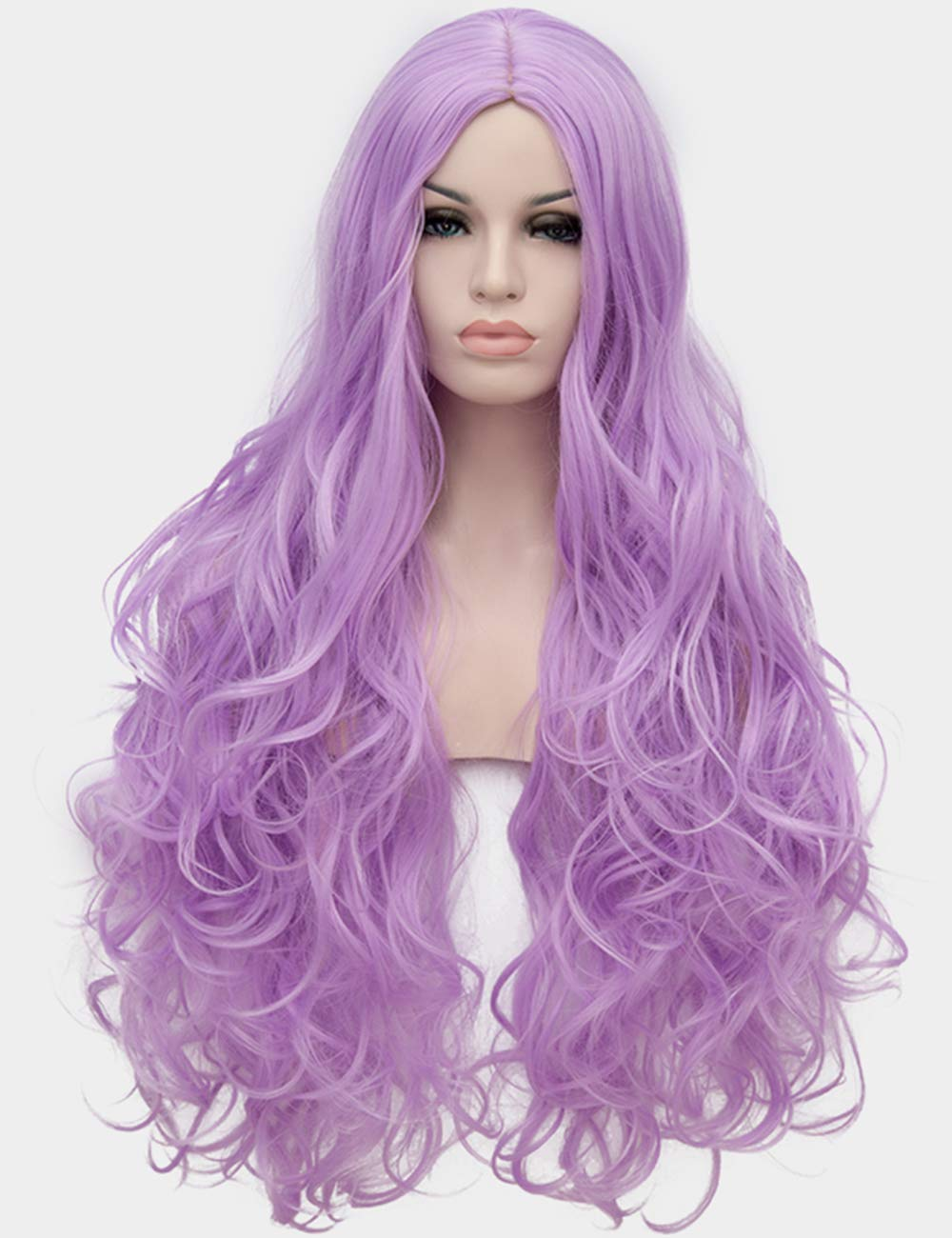 Amazon.com  OneUstar Women Purple Wavy Wig Long Curly Cosplay Wig for  Costume Party Fancy Dress with Wig Cap 31 inch  Beauty 997569218