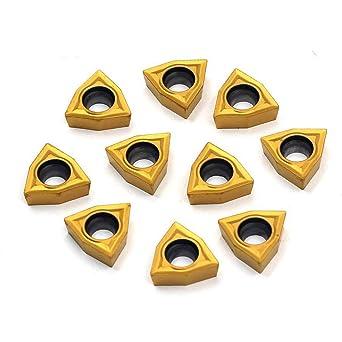 10Pcs//box DCMT070204 Carbide Insert For Lathe Turning Tool UK