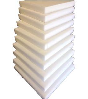 10 placas de espuma de poliuretano, 40 x 40 cm, acolchado para silla X3cm