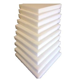 10 Plaques Mousse Polyurethane 40x40 X3cm Tapissier Ameublement