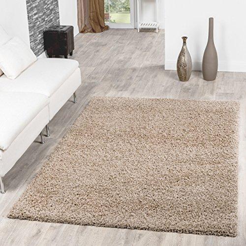 Shaggy Teppich Hochflor Langflor Teppiche Wohnzimmer Preishammer versch. Farben, Farbe:beige;Größe:60x100 cm