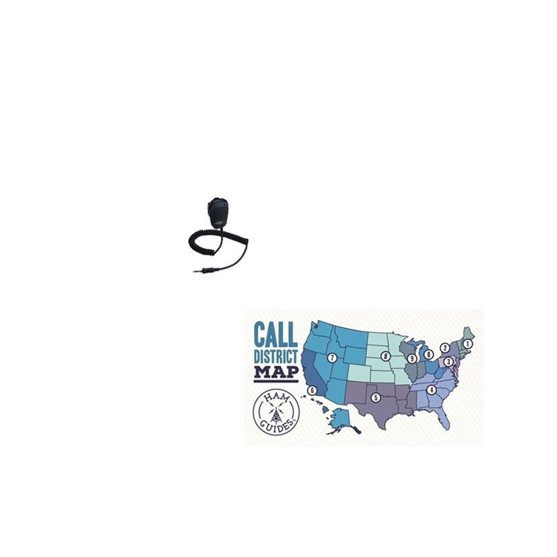 Yaesu SPEAKER/MICROPHONE VX-7R/170/FT-277R and Ham Guides TM Pocket Reference Card Bundle