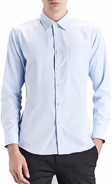 QIYUN.Z Los Hombres De Color Sólido De Manga Larga Tirantes Camisas De Vestir Casuales: Amazon.es: Ropa y accesorios